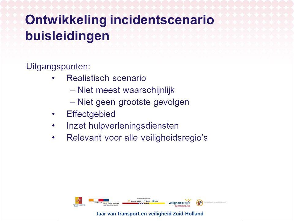 Ontwikkeling incidentscenario buisleidingen