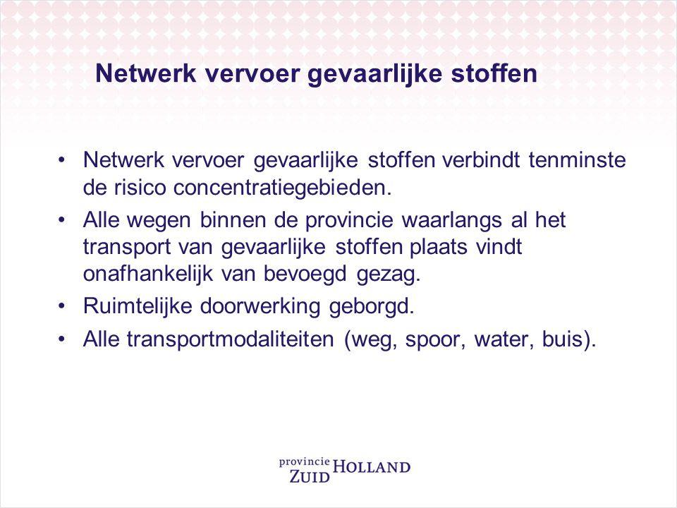 Netwerk vervoer gevaarlijke stoffen