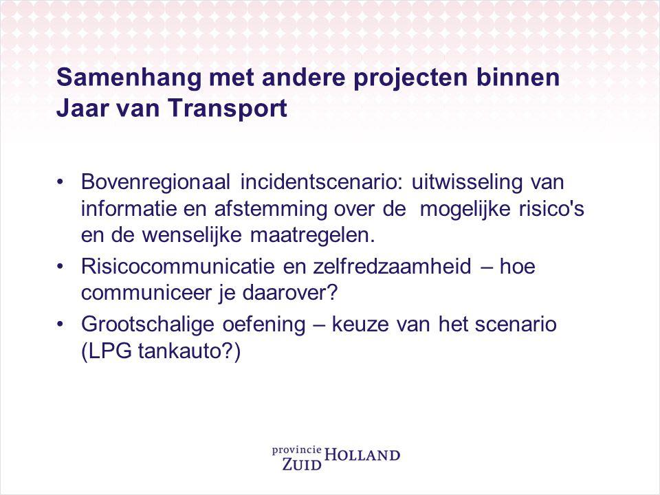 Samenhang met andere projecten binnen Jaar van Transport