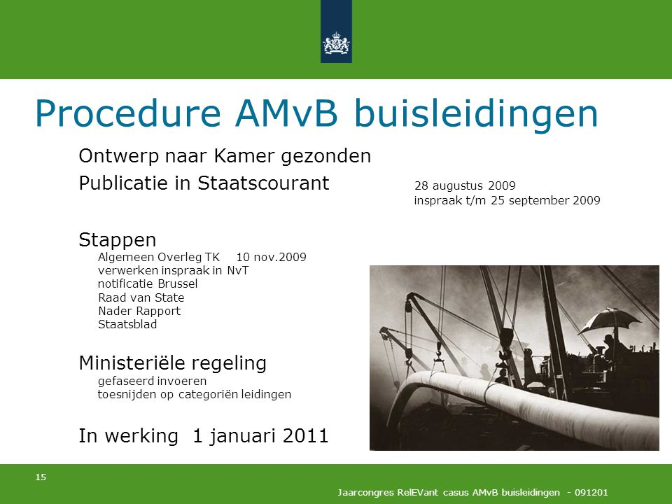 Procedure AMvB buisleidingen