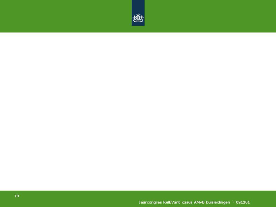 Jaarcongres RelEVant casus AMvB buisleidingen - 091201