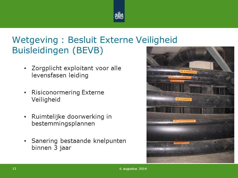 Wetgeving : Besluit Externe Veiligheid Buisleidingen (BEVB)