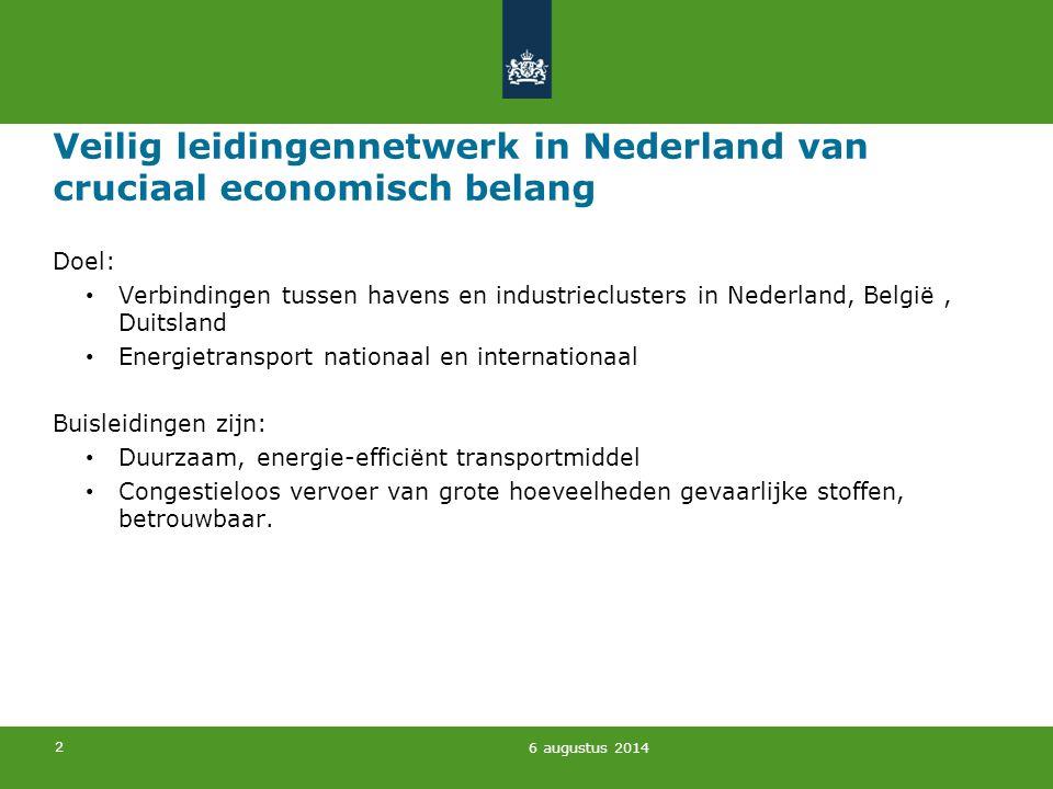 Veilig leidingennetwerk in Nederland van cruciaal economisch belang