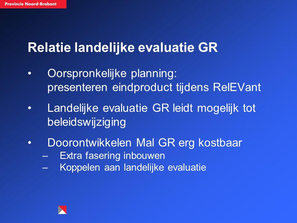 Relatie landelijke evaluatie GR