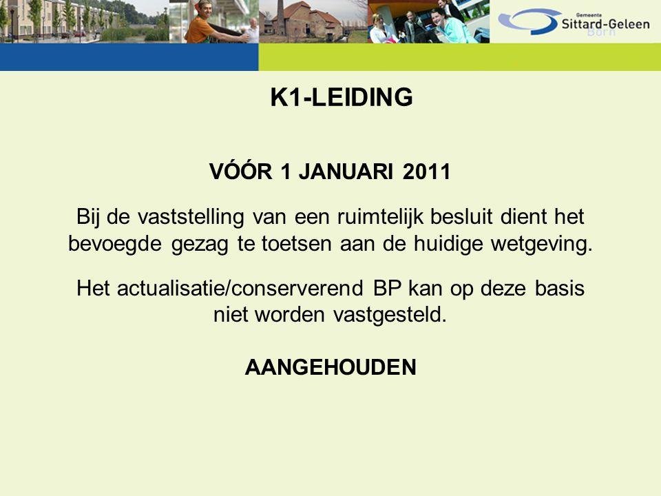 K1-LEIDING VÓÓR 1 JANUARI 2011