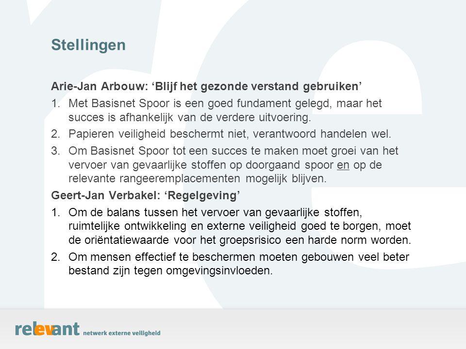 Stellingen Arie-Jan Arbouw: 'Blijf het gezonde verstand gebruiken'
