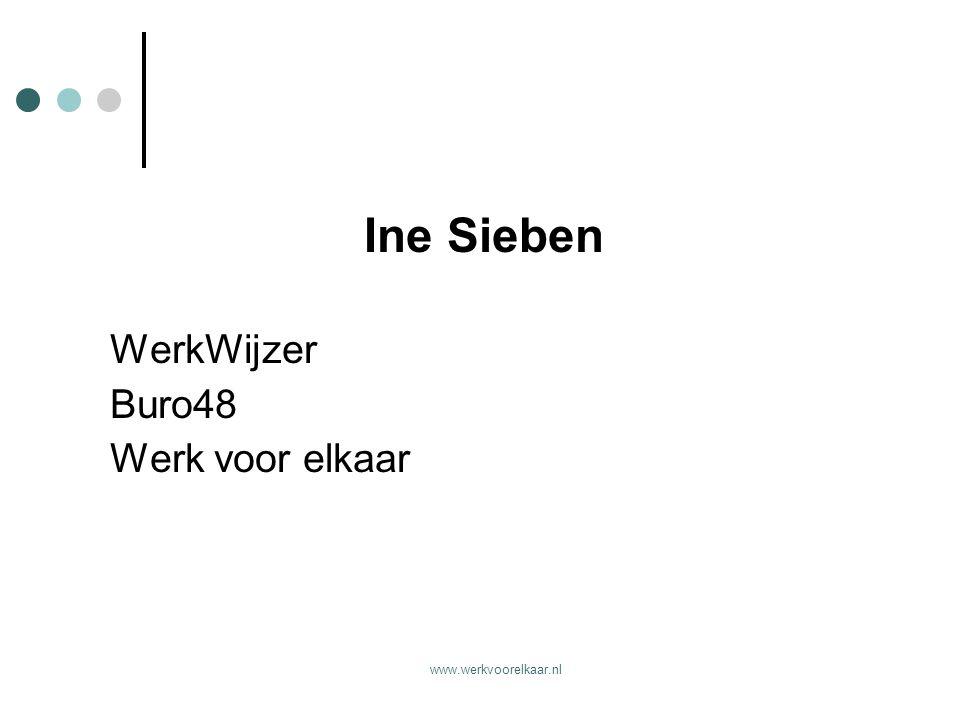 Ine Sieben WerkWijzer Buro48 Werk voor elkaar www.werkvoorelkaar.nl