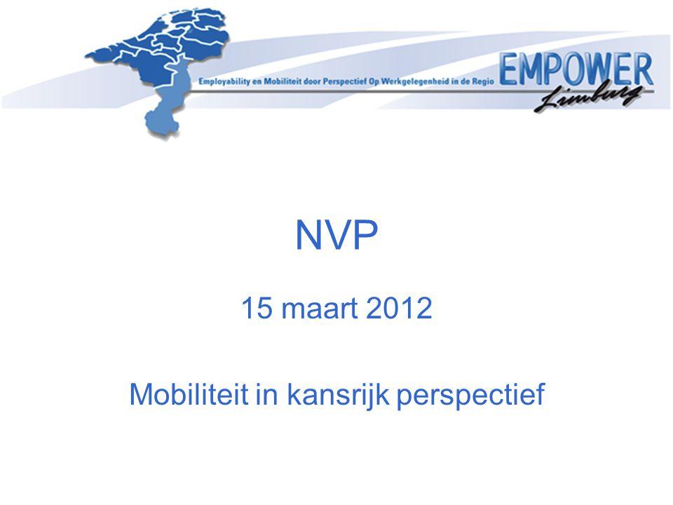 15 maart 2012 Mobiliteit in kansrijk perspectief