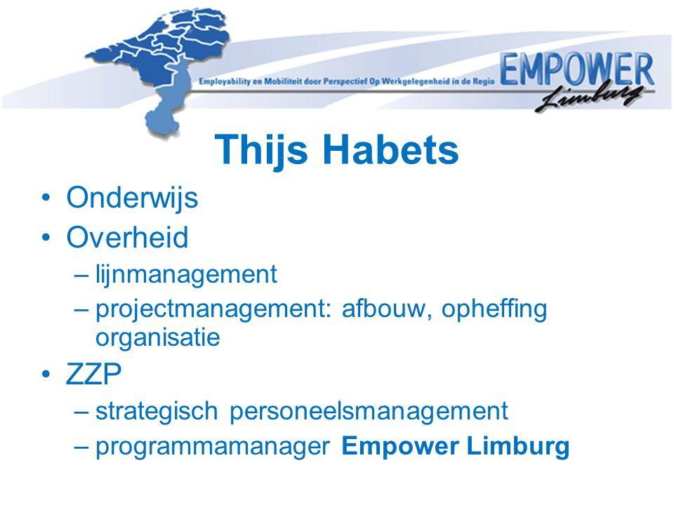 Thijs Habets Onderwijs Overheid ZZP lijnmanagement