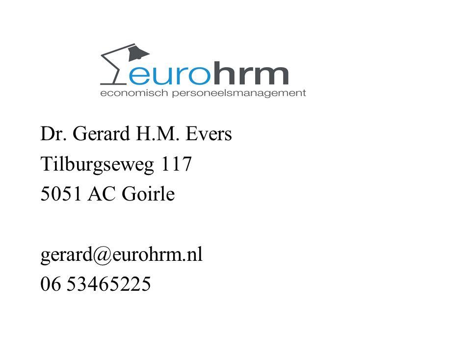 l Dr. Gerard H.M. Evers Tilburgseweg 117 5051 AC Goirle