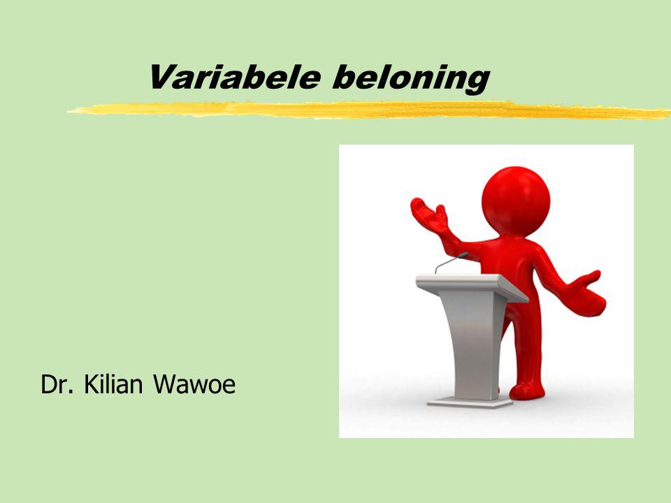 Variabele beloning Dr. Kilian Wawoe