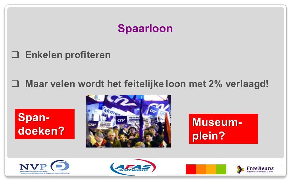 Spaarloon Span-doeken Museum-plein Enkelen profiteren