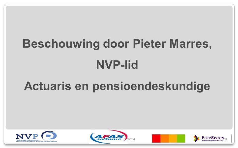Beschouwing door Pieter Marres, Actuaris en pensioendeskundige