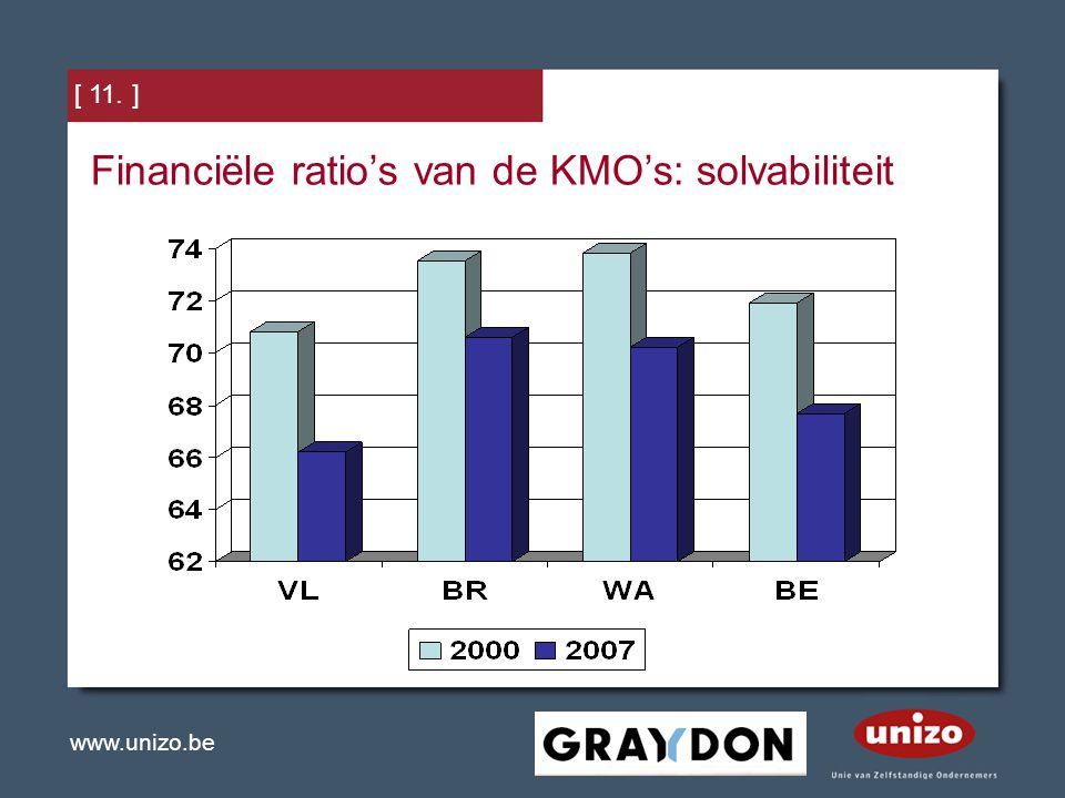 Financiële ratio's van de KMO's: solvabiliteit