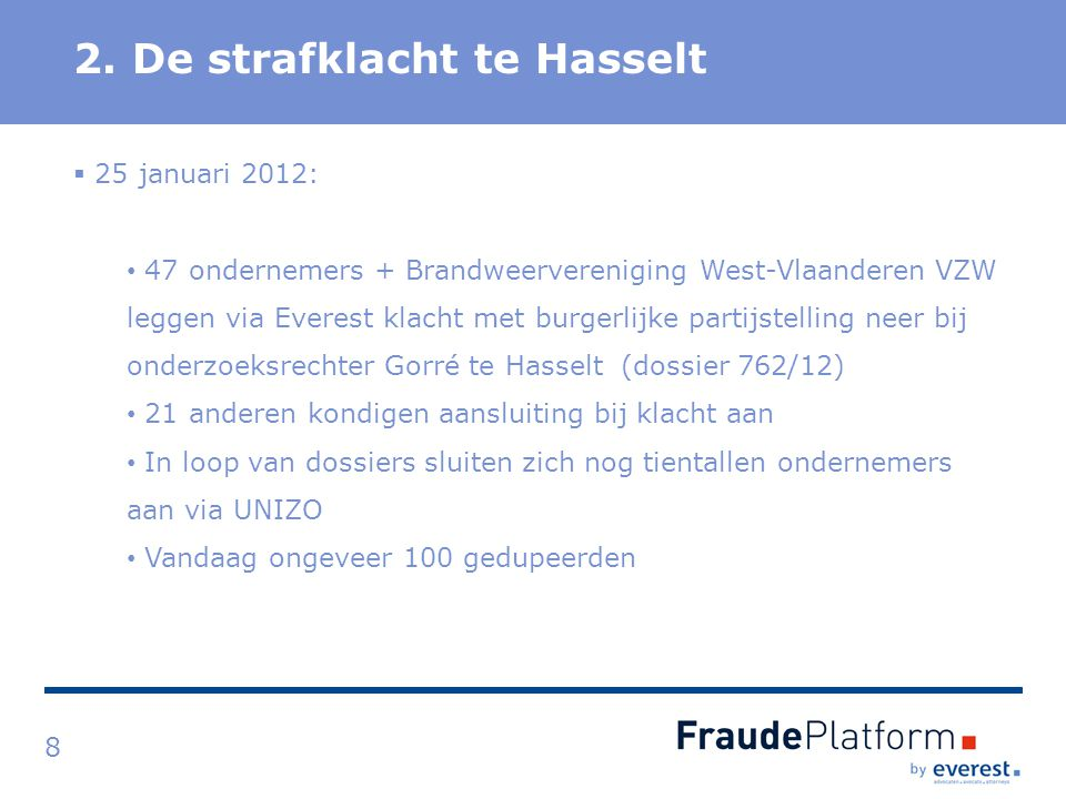 2. De strafklacht te Hasselt