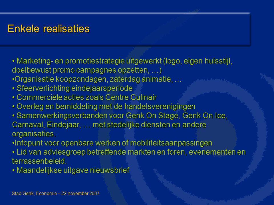 Enkele realisaties Marketing- en promotiestrategie uitgewerkt (logo, eigen huisstijl, doelbewust promo campagnes opzetten, …)