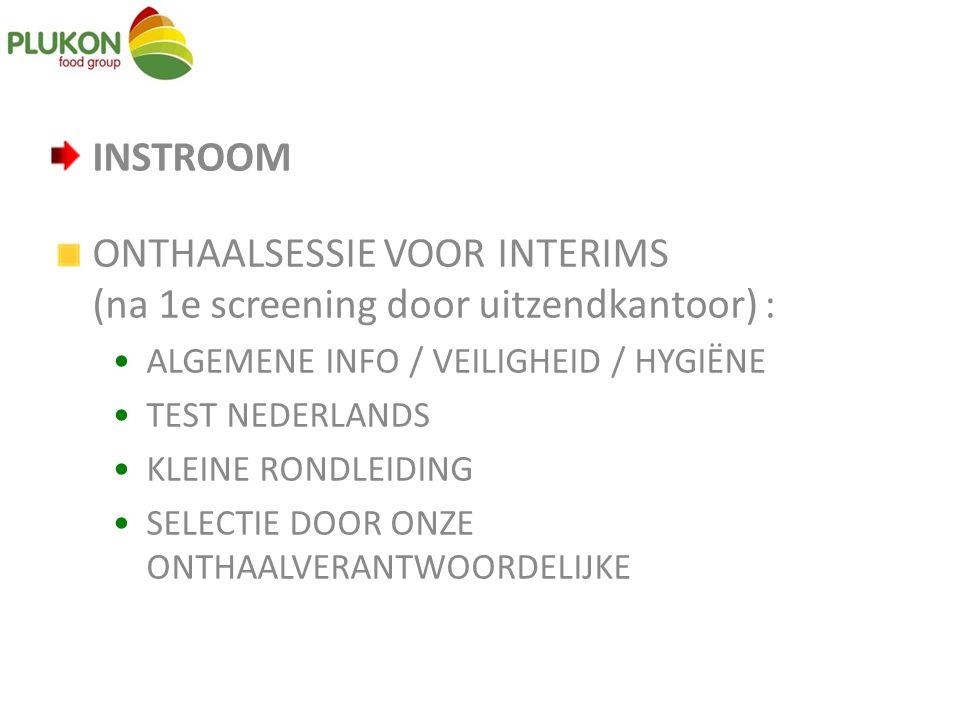ONTHAALSESSIE VOOR INTERIMS (na 1e screening door uitzendkantoor) :