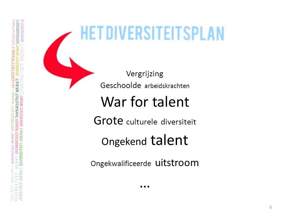 … War for talent Grote culturele diversiteit Ongekend talent