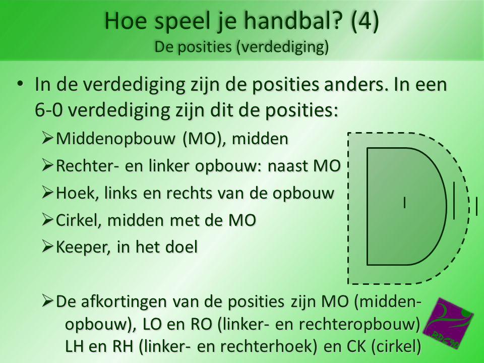 Hoe speel je handbal (4) De posities (verdediging)
