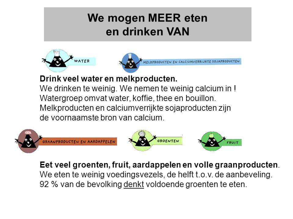 We mogen MEER eten en drinken VAN