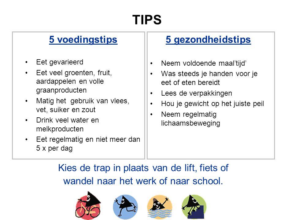 TIPS 5 voedingstips 5 gezondheidstips