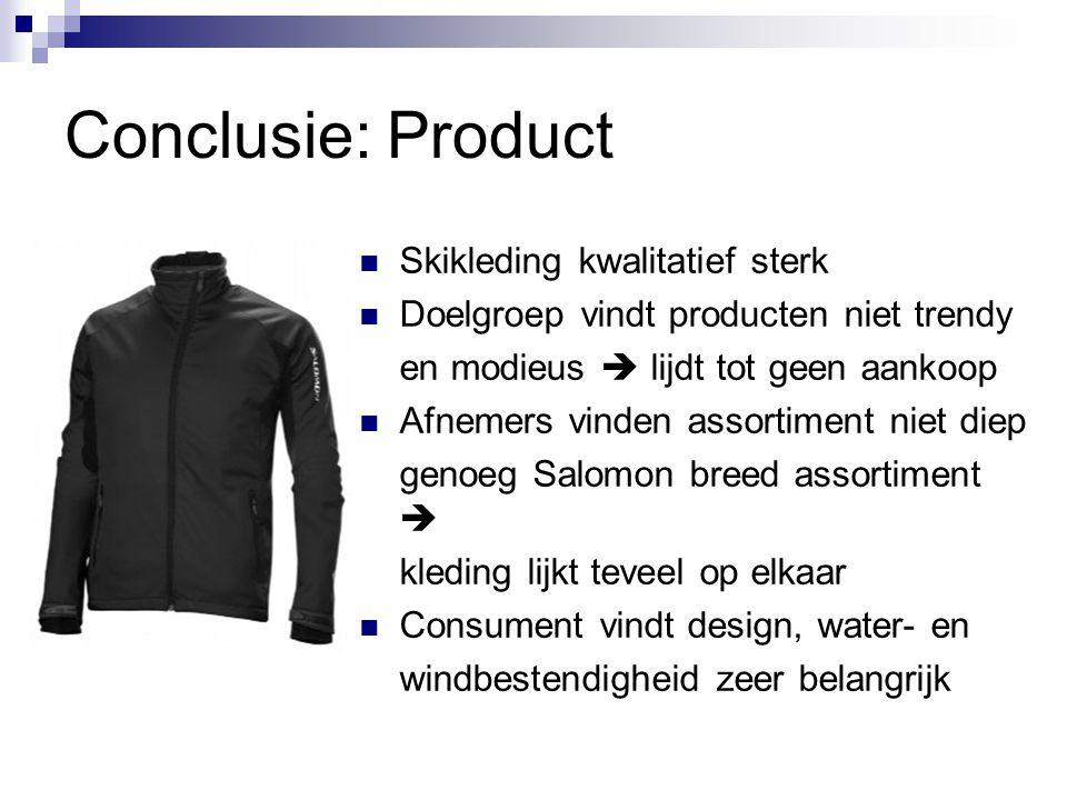 Conclusie: Product Skikleding kwalitatief sterk