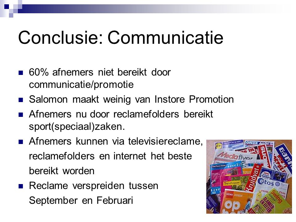 Conclusie: Communicatie
