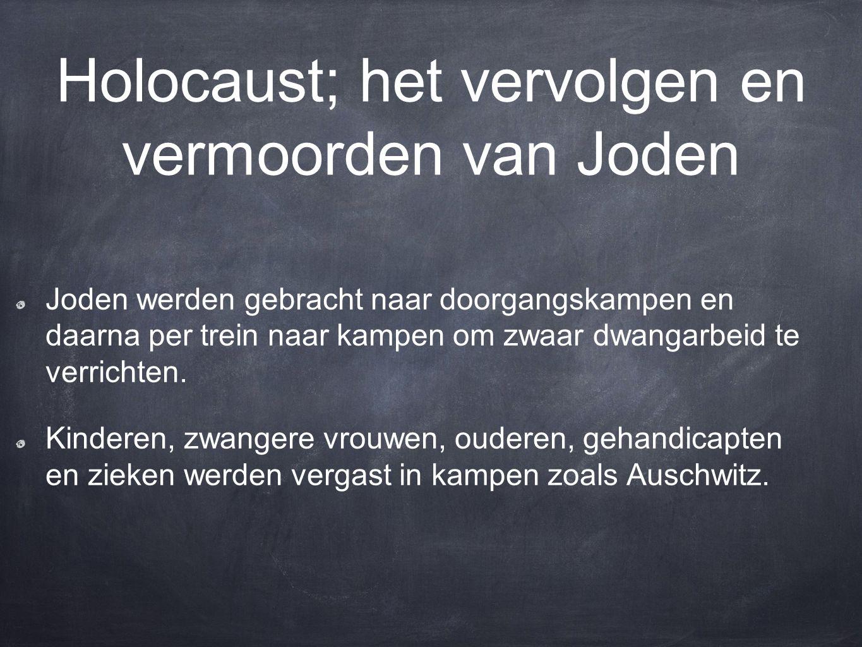 Holocaust; het vervolgen en vermoorden van Joden