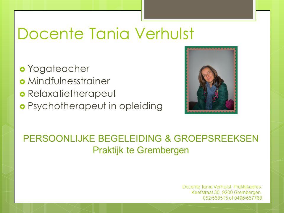 Docente Tania Verhulst
