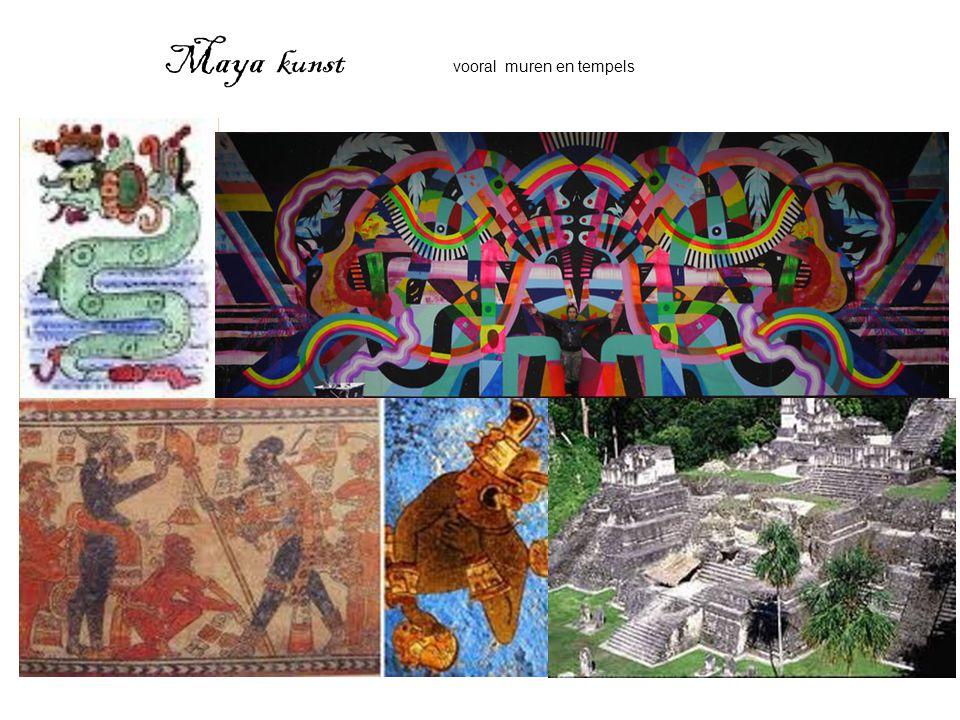 Maya kunst vooral muren en tempels