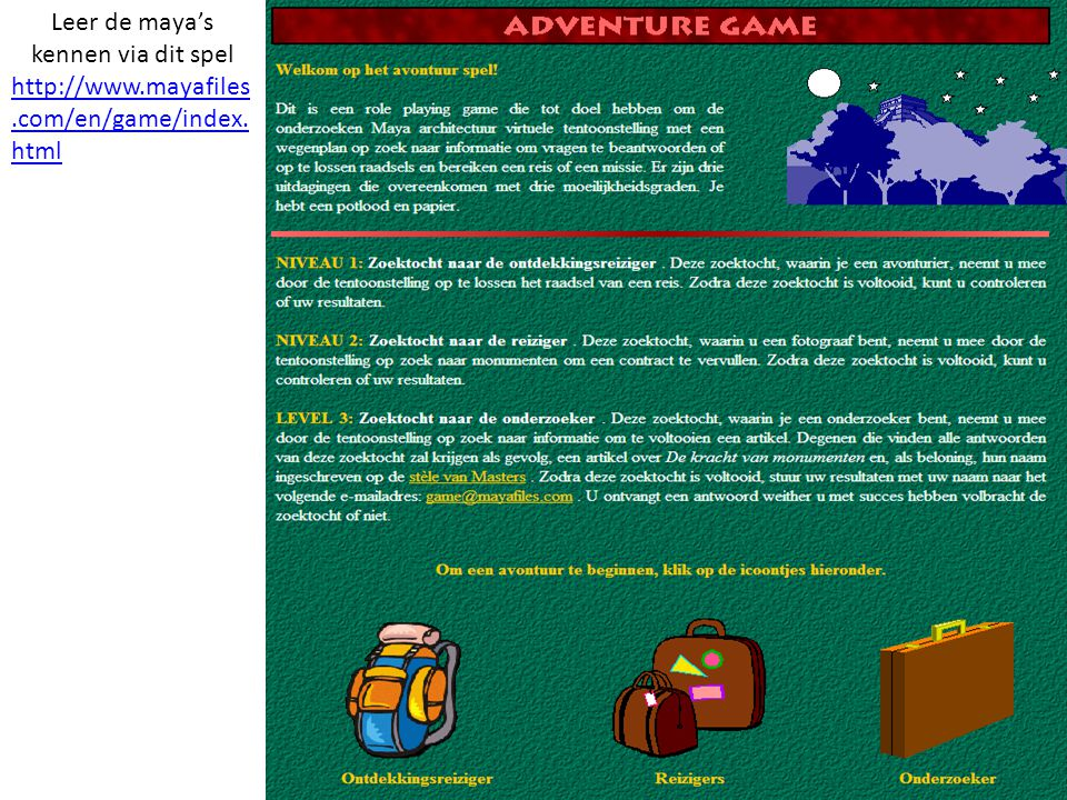Leer de maya's kennen via dit spel