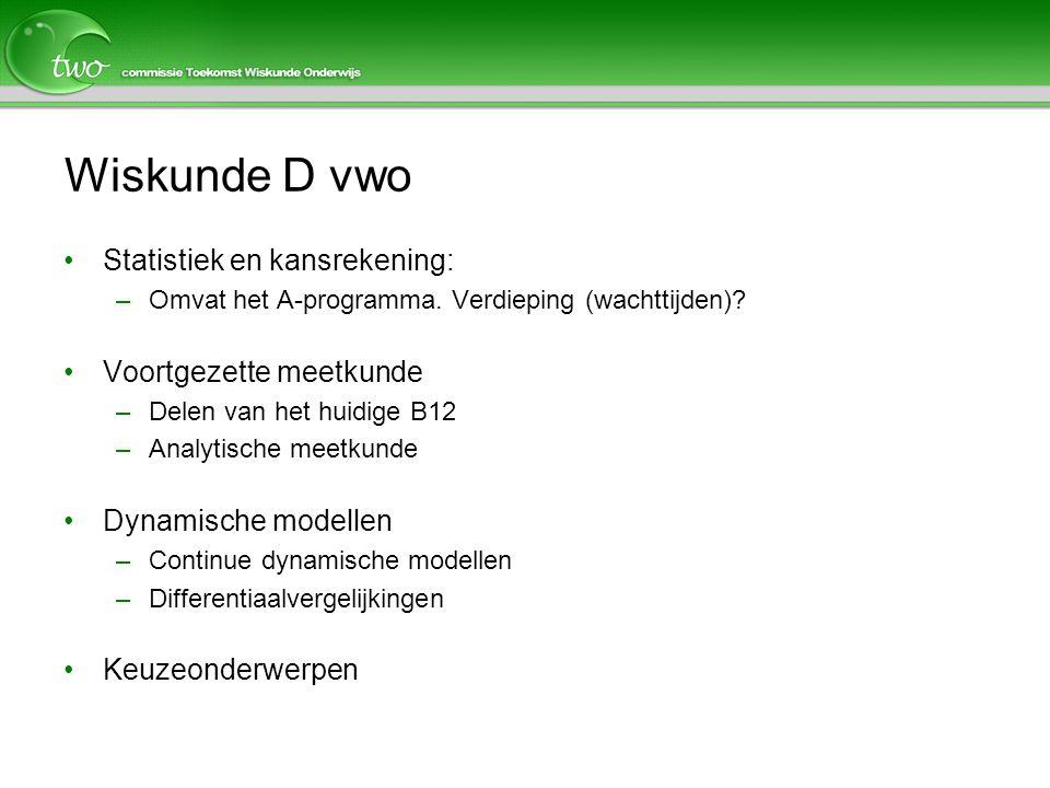 Wiskunde D vwo Statistiek en kansrekening: Voortgezette meetkunde