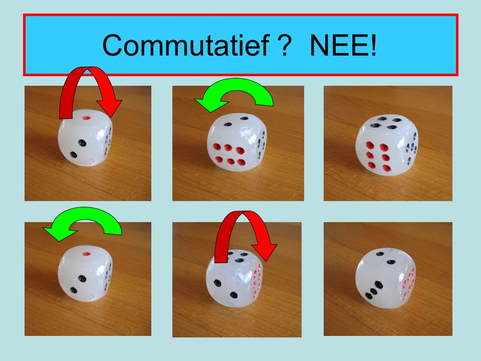 Commutatief NEE!