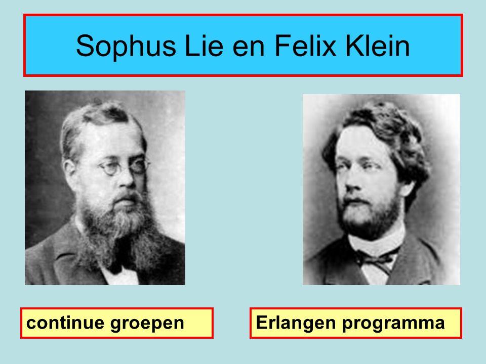 Sophus Lie en Felix Klein