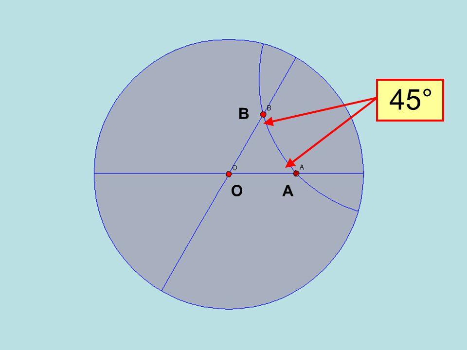 45° B O A