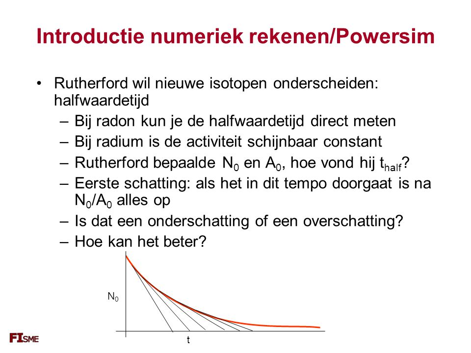 Introductie numeriek rekenen/Powersim