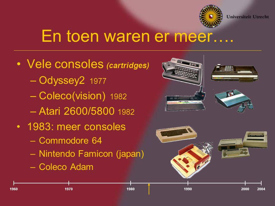 En toen waren er meer…. Vele consoles (cartridges) Odyssey2 1977