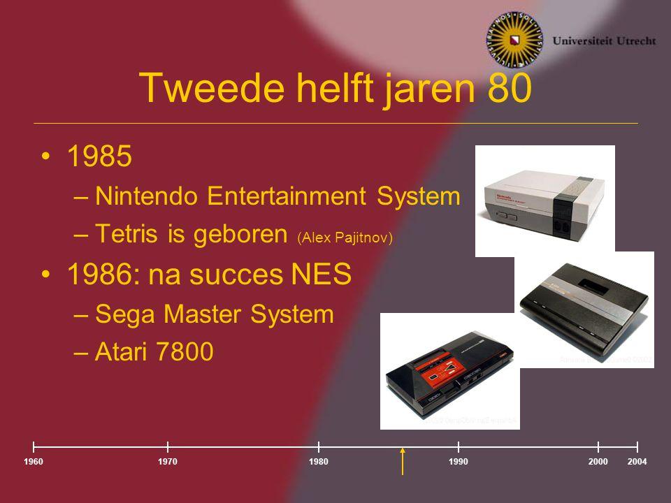 Tweede helft jaren 80 1985 1986: na succes NES