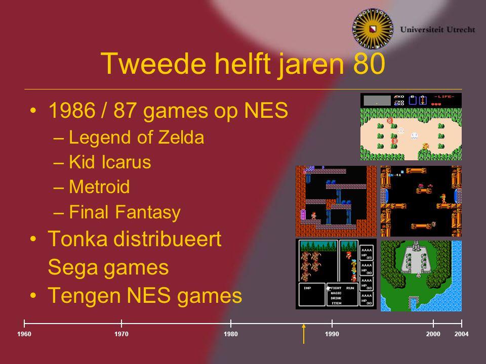 Tweede helft jaren 80 1986 / 87 games op NES Tonka distribueert