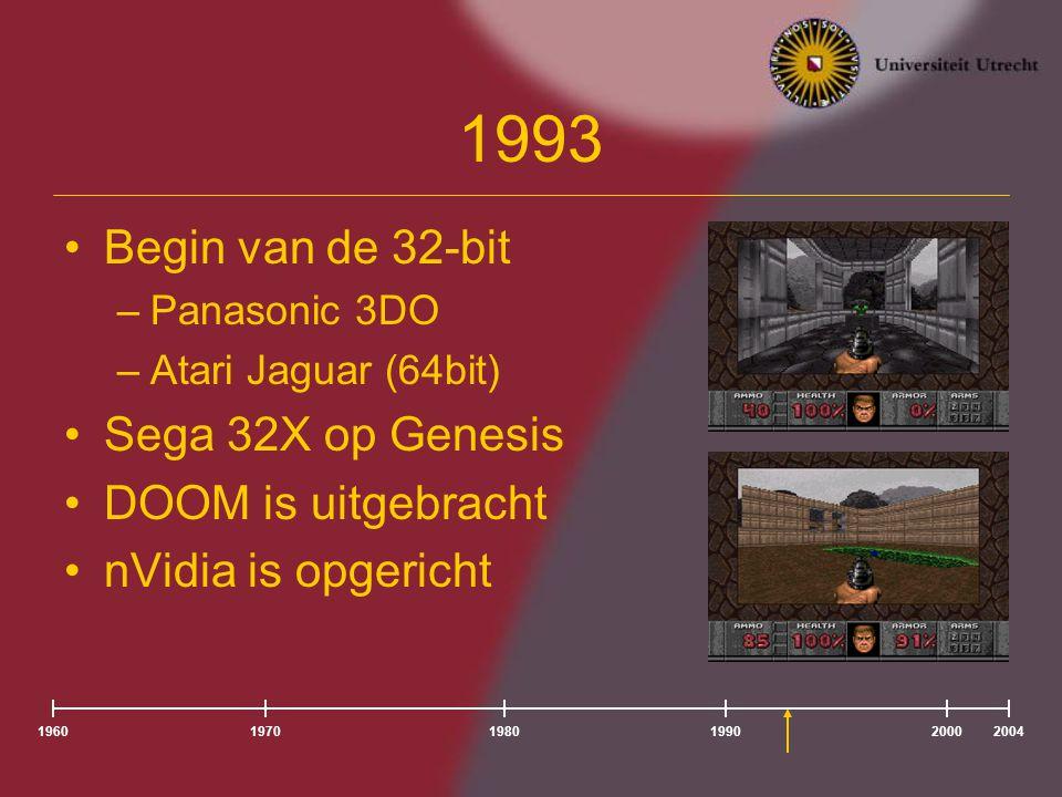 1993 Begin van de 32-bit Sega 32X op Genesis DOOM is uitgebracht