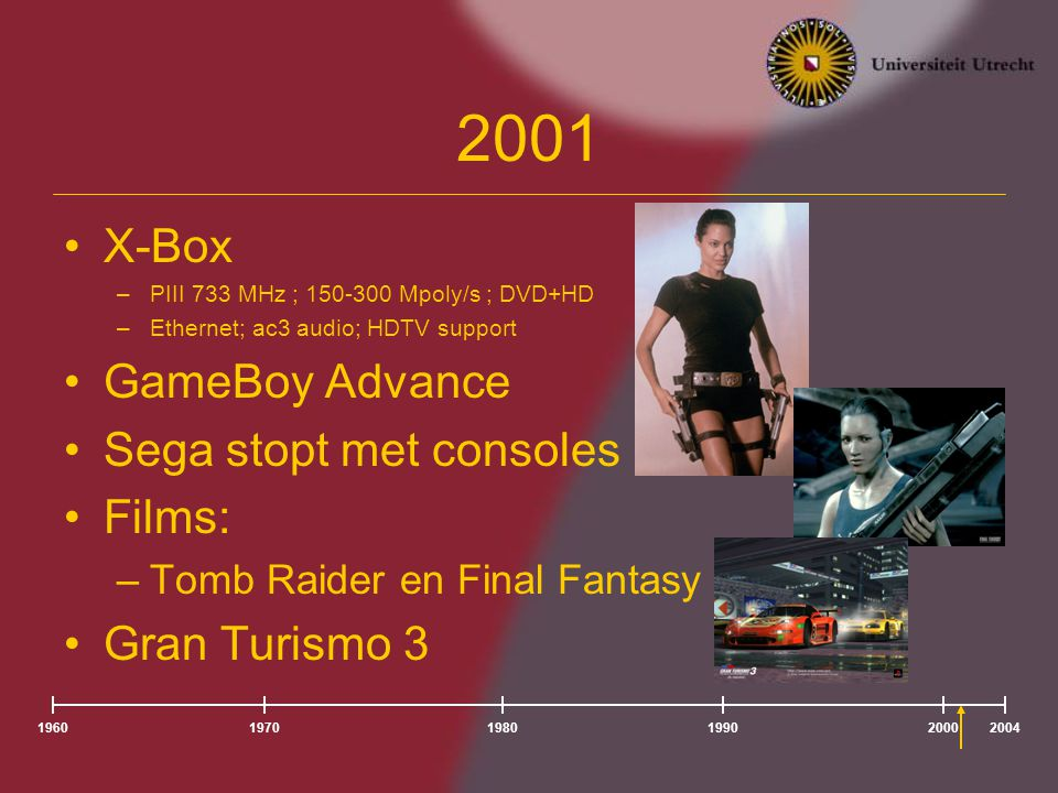 2001 X-Box GameBoy Advance Sega stopt met consoles Films: