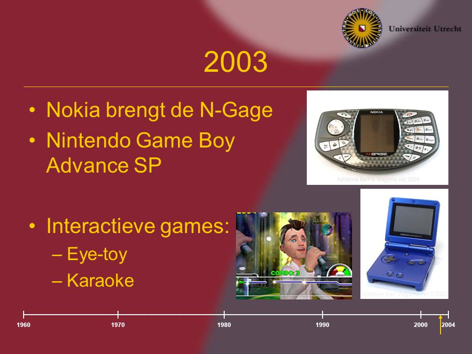 2003 Nokia brengt de N-Gage Nintendo Game Boy Advance SP