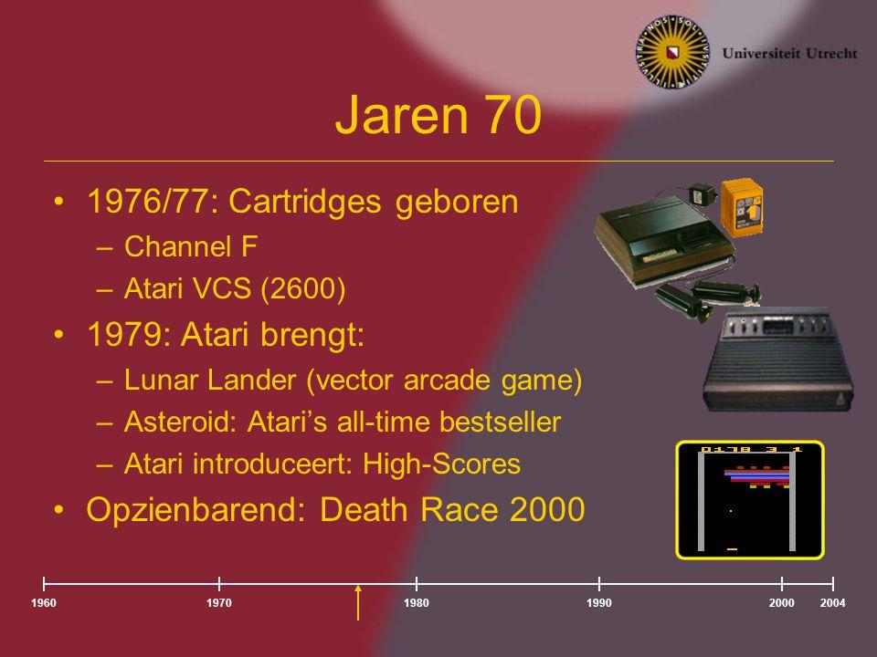 Jaren 70 1976/77: Cartridges geboren 1979: Atari brengt: