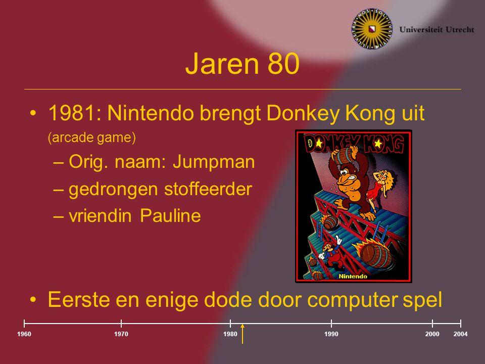 Jaren 80 1981: Nintendo brengt Donkey Kong uit