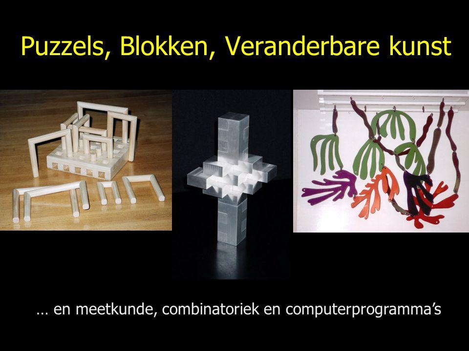 Puzzels, Blokken, Veranderbare kunst
