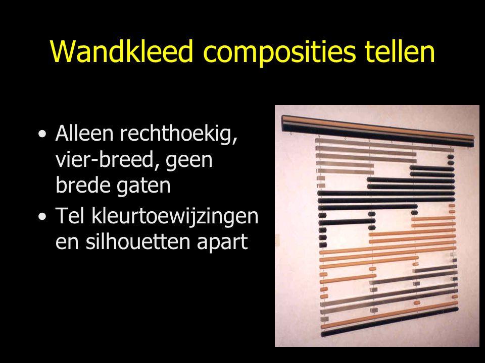 Wandkleed composities tellen