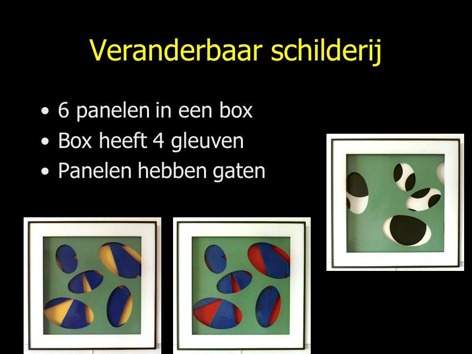Veranderbaar schilderij