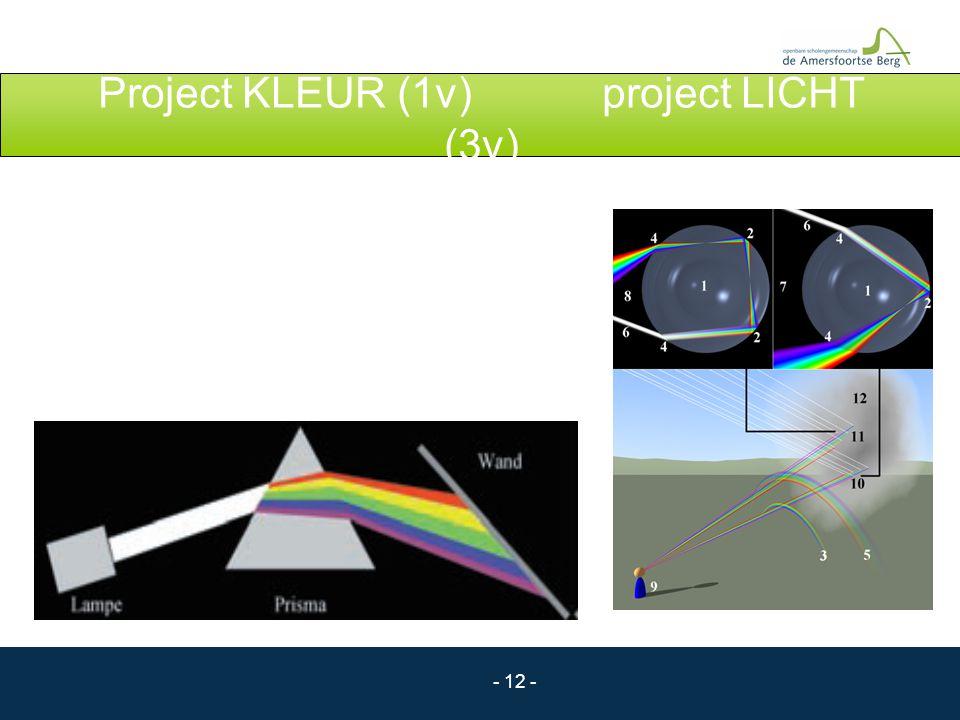 Project KLEUR (1v) project LICHT (3v)