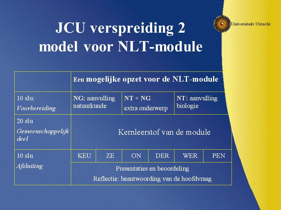 JCU verspreiding 2 model voor NLT-module
