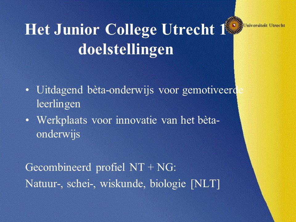 Het Junior College Utrecht 1 doelstellingen